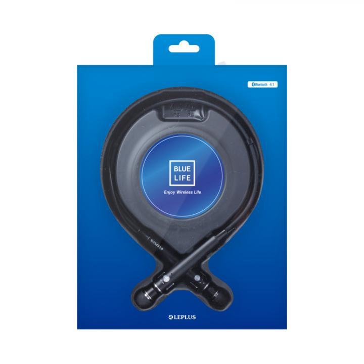 Bluetooth ネックバンドイヤホン BLUE LIFE  ブラック