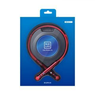 Bluetooth ネックバンドイヤホン BLUE LIFE  レッド