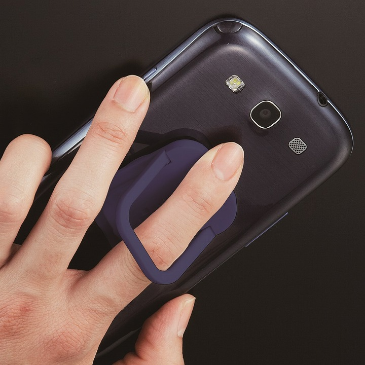 RingGrip iPhone/スマートフォン用落下防止リングホルダー ネイビー_0