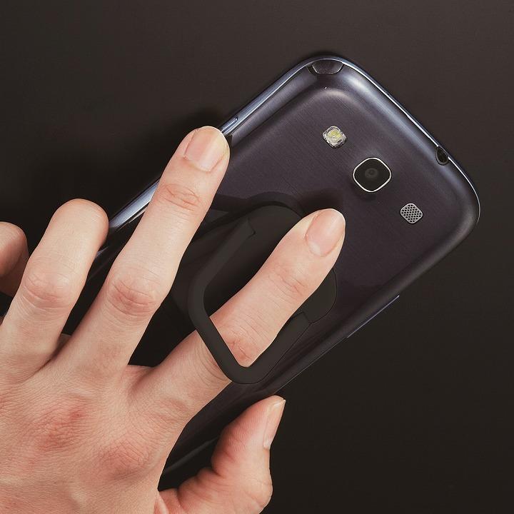 RingGrip iPhone/スマートフォン用落下防止リングホルダー ブラック_0