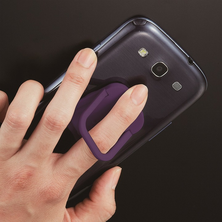 RingGrip iPhone/スマートフォン用落下防止リングホルダー バイオレット_0