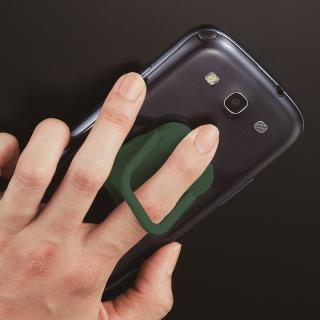 RingGrip iPhone/スマートフォン用落下防止リングホルダー グリーン
