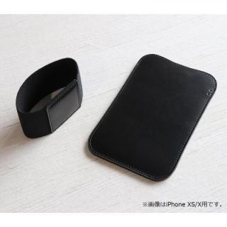 iPhone XS Max ケース 職人が作るレザースリーブ for iPhone XS Max ブラック(スペシャルエディション)