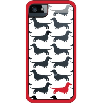 【iPhone SE/5s/5ケース】Separates Doxie iPhone SE/5s/5 Thyme-WHT RED GRY_0
