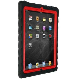 Gumdrop Drop Tech Series iPad2,第3,4世代 レイヤーケース ブラック/レッド