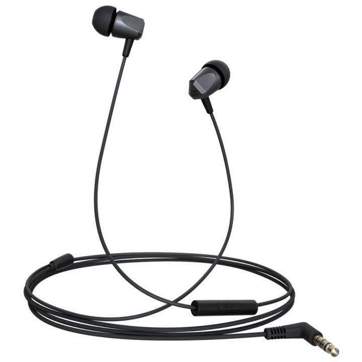 金属ハウジング採用のハイレゾ音源対応高音質イヤホン Samu SE01 ハンズフリー通話可能 ブラック_0
