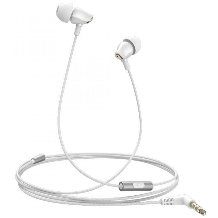 セラミックハウジング採用のハイレゾ音源対応高音質イヤホン ハンズフリー対応 Samu SE02 ホワイト_0