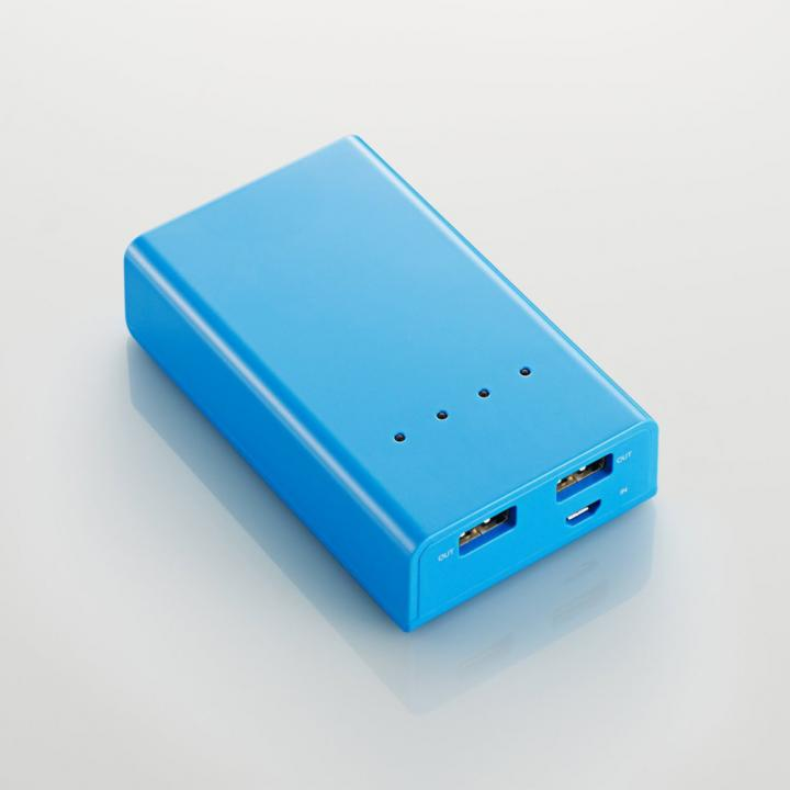 [5200mAh]モバイルバッテリー 2A DE-M01L-5220 ブルー_0