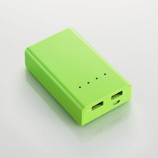 [5200mAh] 2ポート モバイルバッテリー  グリーン