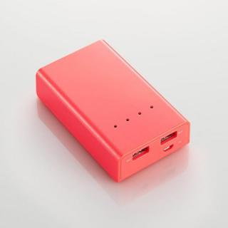 [5200mAh]モバイルバッテリー 2A DE-M01L-5220 レッド