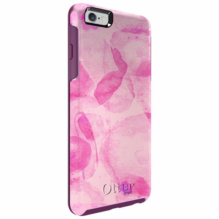 [5月特価]耐衝撃ケース OtterBox Symmetry グラフィック オーキッドピンク iPhone 6 Plus