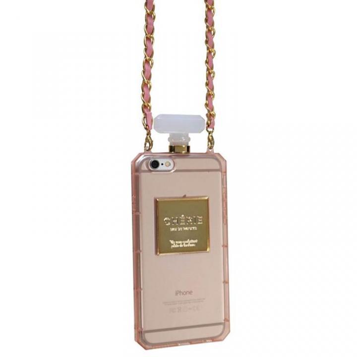 【iPhone6ケース】パフュームボトル チェーン付きケース ピンク iPhone 6ケース_0