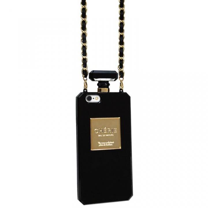 iPhone6s/6 ケース パフュームボトル チェーン付きケース ブラック iPhone 6s/6ケース_0