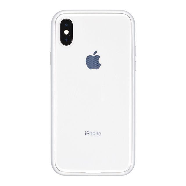 【iPhone Xケース】パワーサポート Shock proof Air jacket ラバーシルバー iPhone X_0