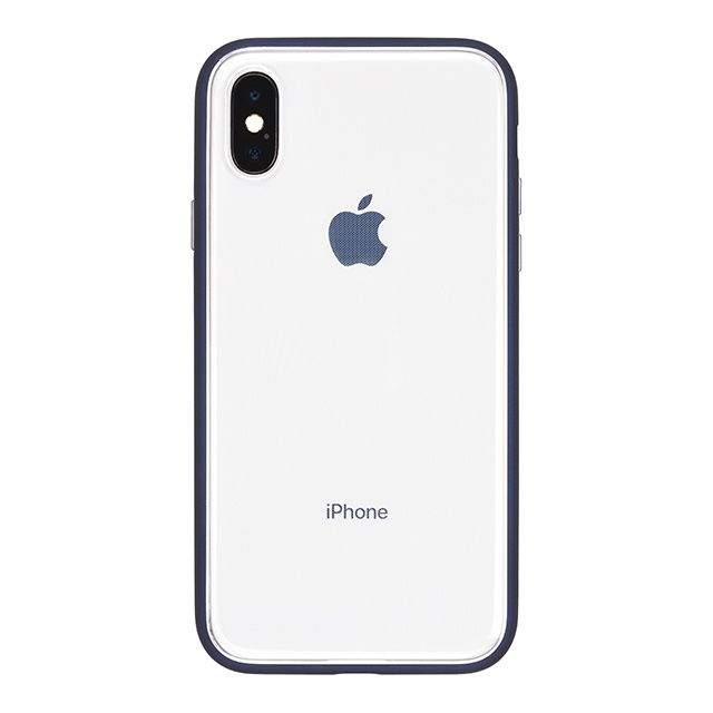 【iPhone Xケース】パワーサポート Shock proof Air jacket ラバーネイビー iPhone X_0