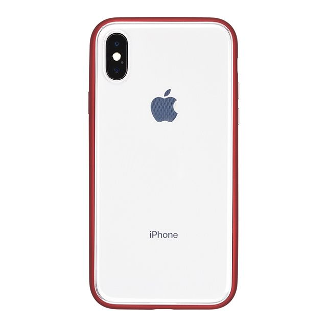 iPhone X ケース パワーサポート Shock proof Air jacket ラバーレッド iPhone X_0
