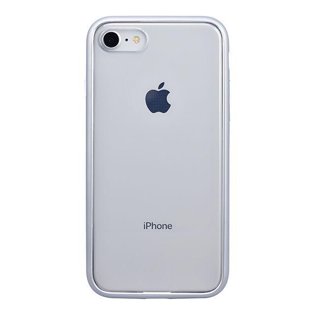 iPhone8 ケース パワーサポート Shock proof Air jacket ラバーシルバー iPhone 8_0
