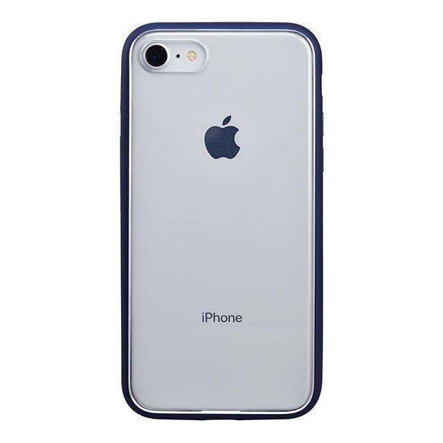 iPhone8 ケース パワーサポート Shock proof Air jacket ラバーネイビー iPhone 8_0