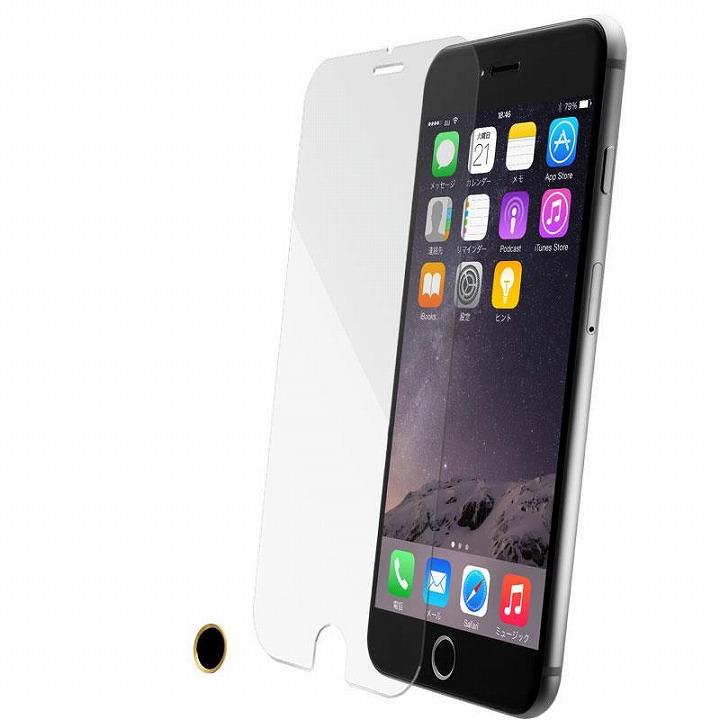iPhone6 Plus フィルム [0.33mm]スーパークリア強化ガラス TouchID対応ホームボタンシールセット iPhone 6 Plus_0