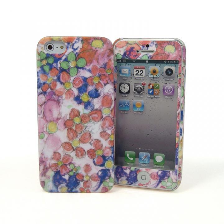 iPhone SE/5s/5 ケース TSUTSUI HAJIME × SMILE WORLD Yes (iPhone5用) 液晶プリントシール付き_0