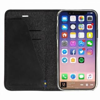 【iPhone Xケース】Krusell Sunne 手帳型レザーケース ブラック iPhone X_1