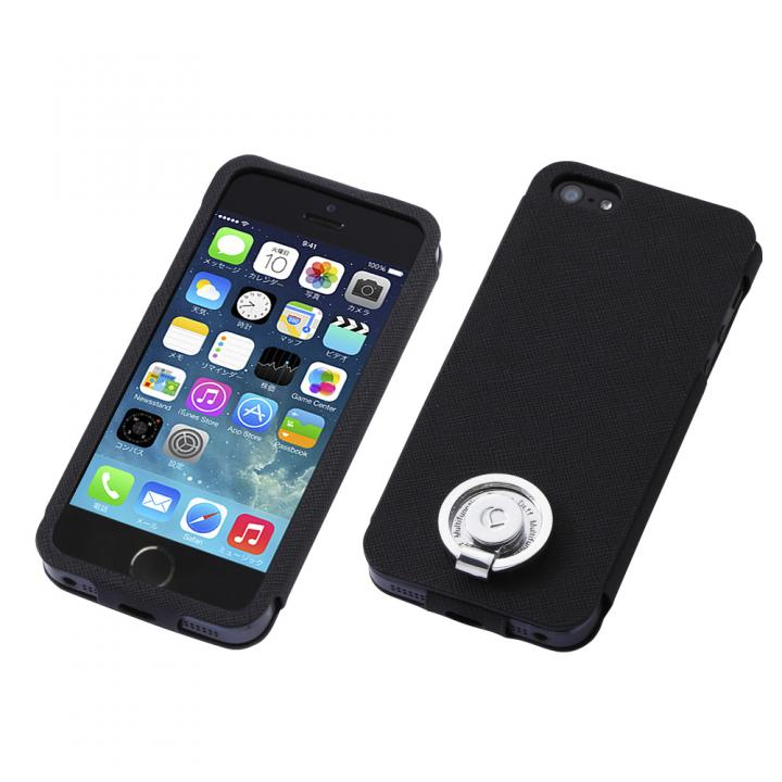 【iPhone SE/5s/5ケース】Multi Function Design Case  iPhone SE/5s/5 Pure Black_0