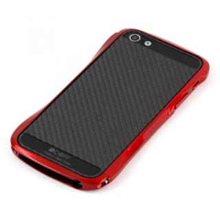 iPhone SE/5s/5 ケース Cleave Bumper Metallic & Carbon  iPhone SE/5s/5 mula Red