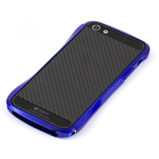 iPhone SE/5s/5 ケース Cleave Bumper Metallic & Carbon  iPhone SE/5s/5 Suzuka Blue