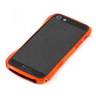 Cleave Bumper Metallic & Carbon  iPhone SE/5s/5 Monaco Orange