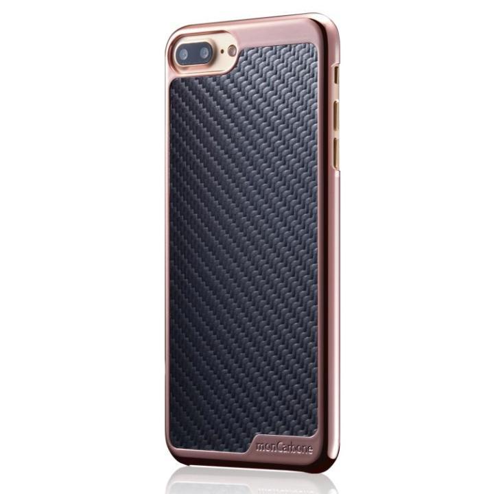 iPhone8/7 ケース monCarbone KHROME ソフトカーボンケース ローズゴールド/ブラック iPhone 8/7_0
