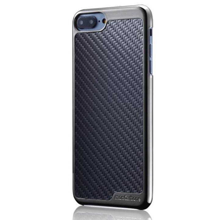 [2018新生活応援特価]monCarbone KHROME ソフトカーボンケース ガンメタル/ブラック iPhone 8 Plus/7 Plus