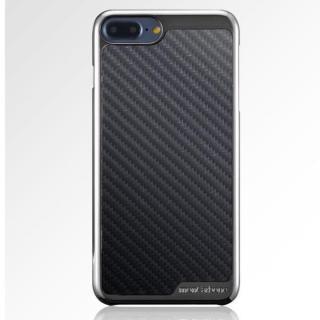 【iPhone8 Plus/7 Plusケース】monCarbone KHROME ソフトカーボンケース ガンメタル/ブラック iPhone 8 Plus/7 Plus_1