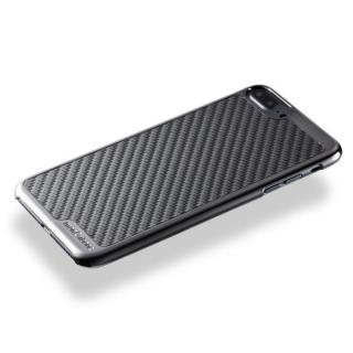 【iPhone8 Plus/7 Plusケース】monCarbone KHROME ソフトカーボンケース ガンメタル/ブラック iPhone 8 Plus/7 Plus_2