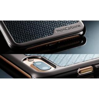 【iPhone8 Plus/7 Plusケース】monCarbone KHROME ソフトカーボンケース ガンメタル/ブラック iPhone 8 Plus/7 Plus_5