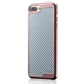 iPhone8/7 ケース monCarbone KHROME ソフトカーボンケース ローズゴールド/シルバー iPhone 8/7