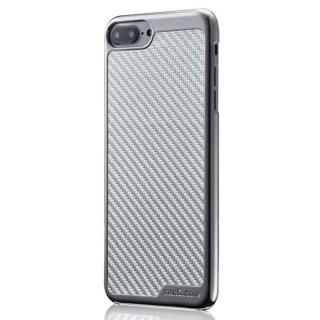 iPhone8/7 ケース monCarbone KHROME ソフトカーボンケース ガンメタル/シルバー iPhone 8/7