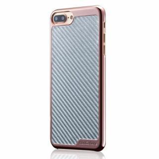 monCarbone KHROME ソフトカーボンケース ローズゴールド/シルバー iPhone 7 Plus