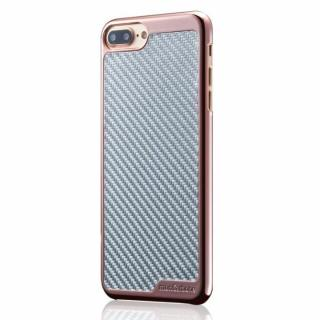 iPhone8 Plus/7 Plus ケース monCarbone KHROME ソフトカーボンケース ローズゴールド/シルバー iPhone 8 Plus/7 Plus