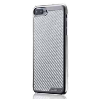 iPhone8 Plus/7 Plus ケース monCarbone KHROME ソフトカーボンケース ガンメタル/シルバー iPhone 8 Plus/7 Plus