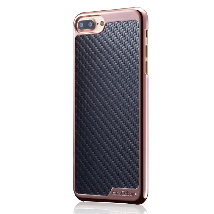 monCarbone KHROME ソフトカーボンケース ローズゴールド/ブラック iPhone 8 Plus/7 Plus