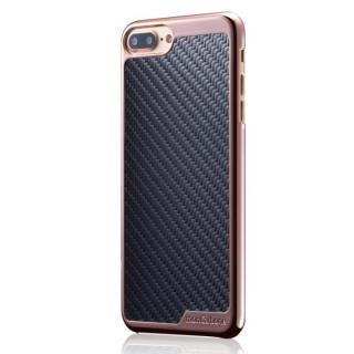 iPhone8 Plus/7 Plus ケース monCarbone KHROME ソフトカーボンケース ローズゴールド/ブラック iPhone 8 Plus/7 Plus