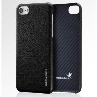 iPhone8/7 ケース monCarbone HOVERSKIN ナッパレザー/ケブラーケース ブラック iPhone 8/7