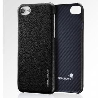 iPhone8 Plus/7 Plus ケース monCarbone HOVERSKIN ナッパレザー/ケブラーケース ブラック iPhone 8 Plus/7 Plus