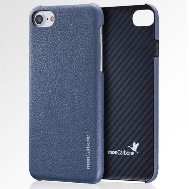 iPhone8/7 ケース monCarbone HOVERSKIN ナッパレザー/ケブラーケース ブルー iPhone 8/7_0