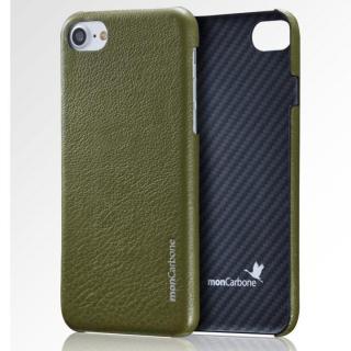 iPhone8 Plus/7 Plus ケース monCarbone HOVERSKIN ナッパレザー/ケブラーケース グリーン iPhone 8 Plus/7 Plus