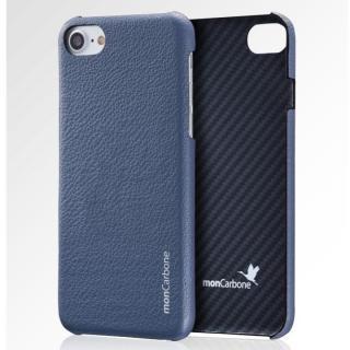iPhone8 Plus/7 Plus ケース monCarbone HOVERSKIN ナッパレザー/ケブラーケース ブルー iPhone 8 Plus/7 Plus