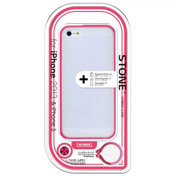 【iPhone SE/5s/5ケース】iPhone SE/5s/5 STONE 2 ハイブリッドケース ピンク_0