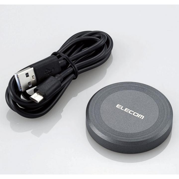 Qi規格対応ワイヤレス充電器 ブラック_0