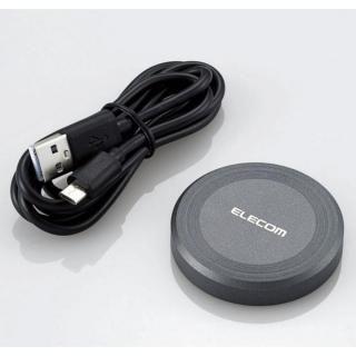 Qi規格対応ワイヤレス充電器 ブラック【11月中旬】
