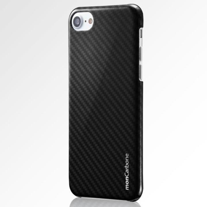 【iPhone8/7ケース】monCarbone HOVERKOAT ケブラーケース ミッドナイトブラック 光沢タイプ iPhone 8/7_0